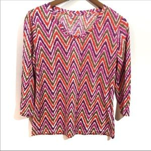New Directions colorful chevron top